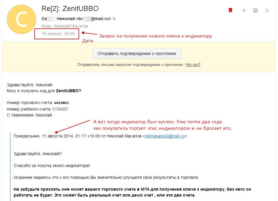 Два года торговли ZenitUBBO