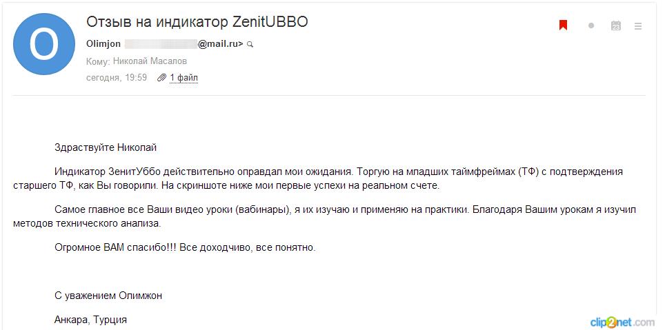 Олимжон о ZenitUBBO письмо