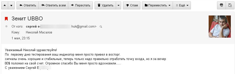 Сергей о ZenitUBBO 1.05.15