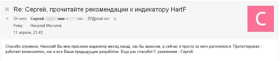 Сергей В об индикаторе HartF