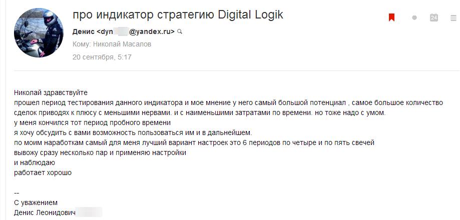 Денис об индикаторе Digital Logic