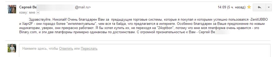 Сергей Ве. о моих индикаторах